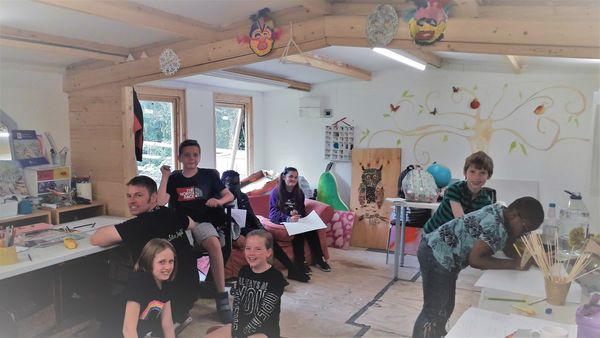 Young People At Drama Workshop