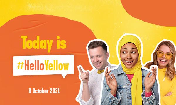 Hello Yellow Banner